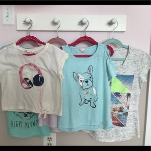 Other - Lot of 6 Girls T-shirt's. EUC Justice Nike Gap